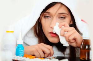 Женщина заболела