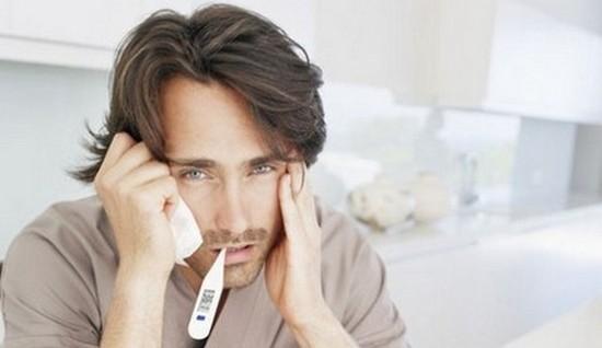 Повышение температуры и головная боль - симптомы синусита