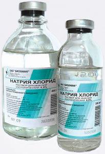 Натрия хлорид: раствор для инфузий 0,9%