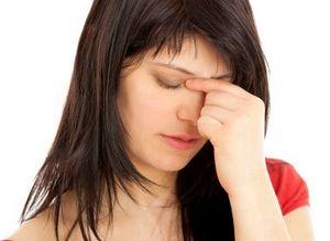 Боль в области переносицы