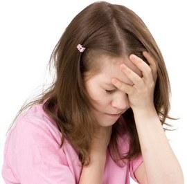 У девочки головная боль