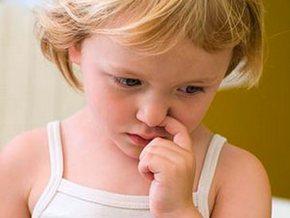 У ребенка болячка в носу