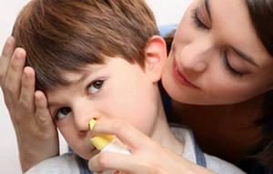 Промываем нос ребенку