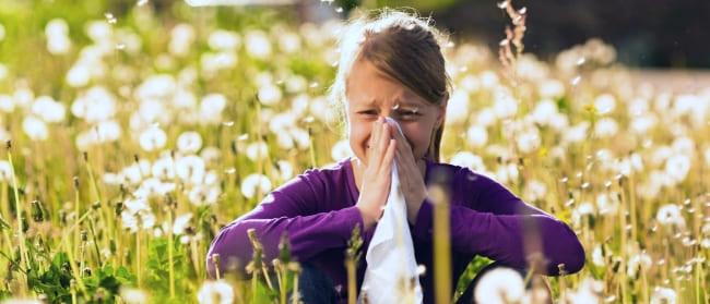 У девочки аллергический ринит